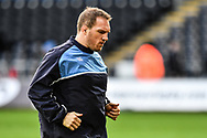Cardiff Blues' Gethin Jenkins during the pre match warm up<br /> <br /> Photographer Craig Thomas/Replay Images<br /> <br /> Guinness PRO14 Round 13 - Ospreys v Cardiff Blues - Saturday 6th January 2018 - Liberty Stadium - Swansea<br /> <br /> World Copyright &copy; Replay Images . All rights reserved. info@replayimages.co.uk - http://replayimages.co.uk