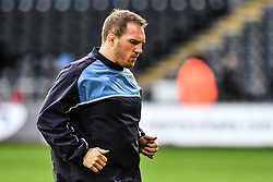 Cardiff Blues' Gethin Jenkins during the pre match warm up<br /> <br /> Photographer Craig Thomas/Replay Images<br /> <br /> Guinness PRO14 Round 13 - Ospreys v Cardiff Blues - Saturday 6th January 2018 - Liberty Stadium - Swansea<br /> <br /> World Copyright © Replay Images . All rights reserved. info@replayimages.co.uk - http://replayimages.co.uk