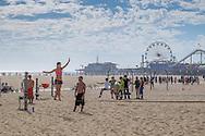 The beach at Santa Monica, Los Angeles, California.