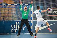 Thierry Omeyer / Hugo Descat - 22.04.2015 - PSG / Creteil - 21eme journee de D1<br /> Photo : Andre Ferreira / Icon Sport