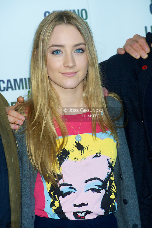 US actress Saoirse Ronan attends the photocall of 'The way back' at Eurostars Hotel in Madrid