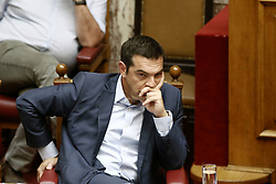 July 3, 2017 - Athens, Greece - Prime Minister Alexis Tsipras during a discussion on the economy at Parliament, in Athens on July 3,2017  (Credit Image: © Panayotis Tzamaros/NurPhoto via ZUMA Press)