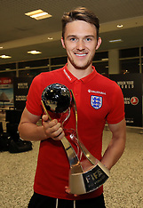 England U20's FIFA World Cup Winners Arrival - 13 June 2017
