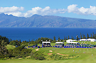 January 10 2015:  Players make their way to eighteen green during the Second Round of the Hyundai Tournament of Champions at Kapalua Plantation Course on Maui, HI.
