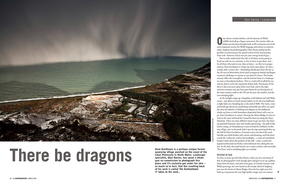 Interview in the BIPP magazine 'The Photographer' with its editor Jonathan Briggs, about a major project which became my third book, 'Nant Gwrtheyrn - Y Swyngyfaredd (The Enchantment)' that was published in 2009