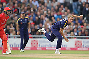 Yorkshires Steven Patterson (Captain) during the Vitality T20 Blast North Group match between Lancashire County Cricket Club and Yorkshire County Cricket Club at the Emirates, Old Trafford, Manchester, United Kingdom on 20 July 2018. Picture by George Franks.
