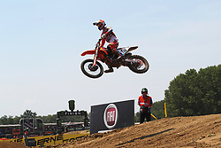 June 17, 2018 - Ottobiano, Lombardia, Italy - Jorge Prado of Red Bull KTM Factory Racing team wins the second race of Fiat Professional MXGP of Lombardia, category MX2, at Ottobiano Motorsport circuit on June 17, 2018 in Ottobiano (PV), Italy. (Credit Image: © Massimiliano Ferraro/NurPhoto via ZUMA Press)