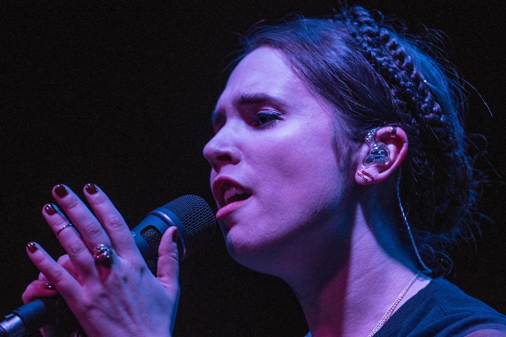 Norway born, Los Angeles based Monica Birkenes (AKA Mr. Little Jeans) performs at The Constellation Room in Santa Ana November 30, 2016.