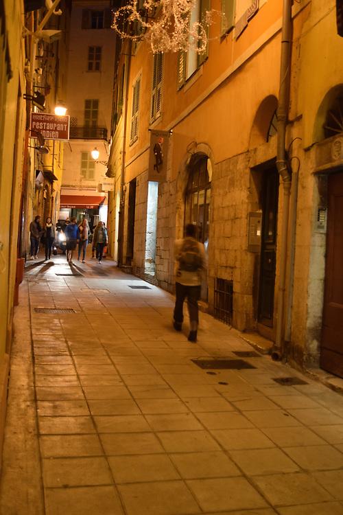 Old town Nice, Street at Night