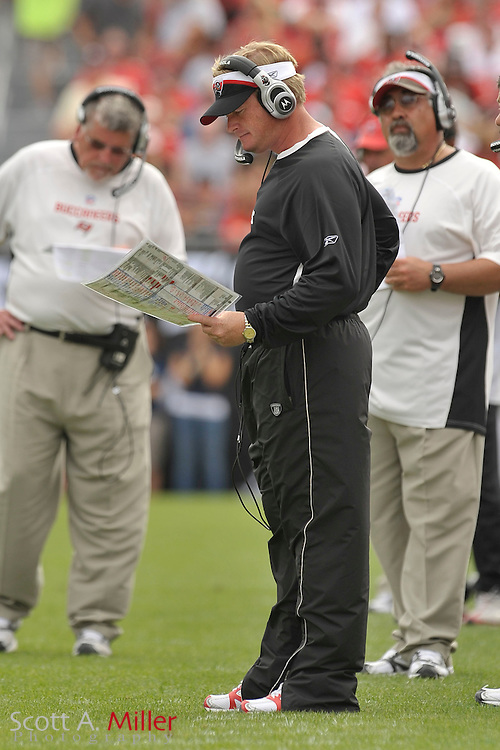 Tampa Bay Buccaneers coach Jon Gruden during the Bucs game against the Carolina Panthers at Raymond James Stadium on Dec. 30, 2007 in Tampa, Florida.                          ..©2007 Scott A. Miller