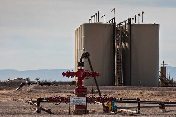 Oil and gas industry site in the  Permain Basin.