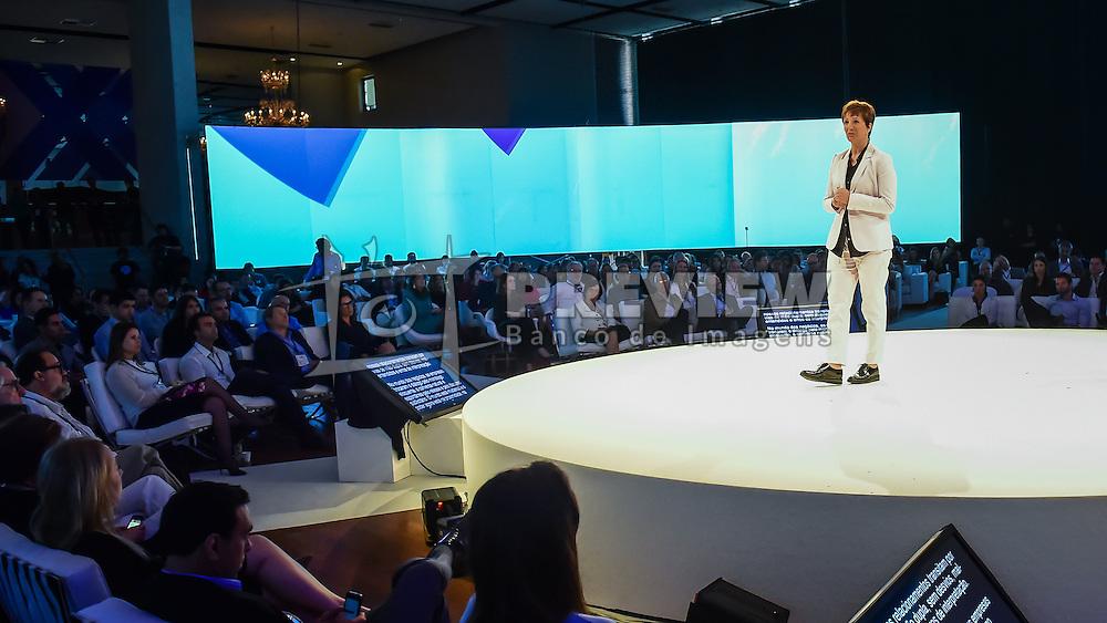 Sonia Bridi durante o VOX - The Joy of Sharing, evento que  pretende provocar reflexões sobre o futuro da comunicação a partir do compartilhamento de conteúdo e experiências. FOTO: Vinícius Costa/ Agência Preview