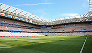 Inside view of the Stade De Nice stadium during the Euro 2016 match between Poland and Northern Ireland at the Stade de Nice, Nice, France on 12 June 2016. Photo by Phil Duncan.
