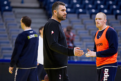 Boris Denic, head coach of Slovenia during practice session of Slovenia national team 1 day before handball match against Macedonia for 5th place at 10th EHF European Handball Championship Serbia 2012, on January 26, 2012 in Beogradska Arena, Belgrade, Serbia.  (Photo By Vid Ponikvar / Sportida.com)