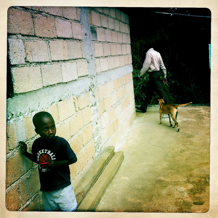 A boy on Tuesday, April 3, 2012 in Kenscoff, Haiti.