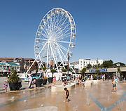 Big Wheel ferris wheel water fountain spray, Pier Approach, Bournemouth, Dorset, England, UK