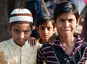 Three boy friends in Bundi (India)