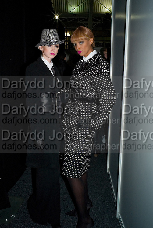 MODELS BACKSTAGE. FashionExpo, fashion show and Awards. Business Design Centre, Upper st. London. 19 November 2008.  *** Local Caption *** -DO NOT ARCHIVE -Copyright Photograph by Dafydd Jones. 248 Clapham Rd. London SW9 0PZ. Tel 0207 820 0771. www.dafjones.com