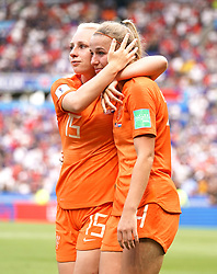 Netherlands' Inessa Kaagman (left) and Jackie Groenen appear dejected after the final whistle
