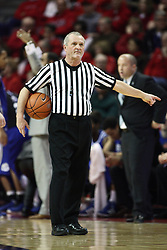 12 January 2013:  Referee Hal Lusk during an NCAA Missouri Valley Conference mens basketball game Where the Bulldogs of Drake University beat the Illinois State Redbirds 82-77 in Redbird Arena, Normal IL