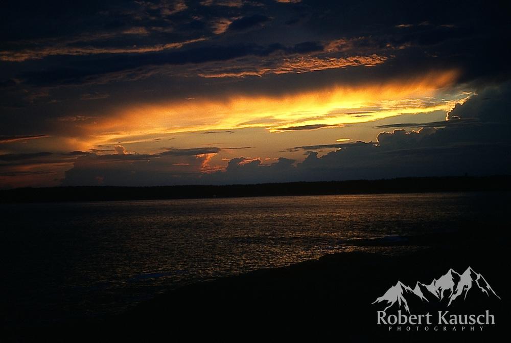 Sunset over St. John's Bay