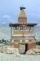 Nepal - Region du Mustang - Chörten ou stupa bouddhiste