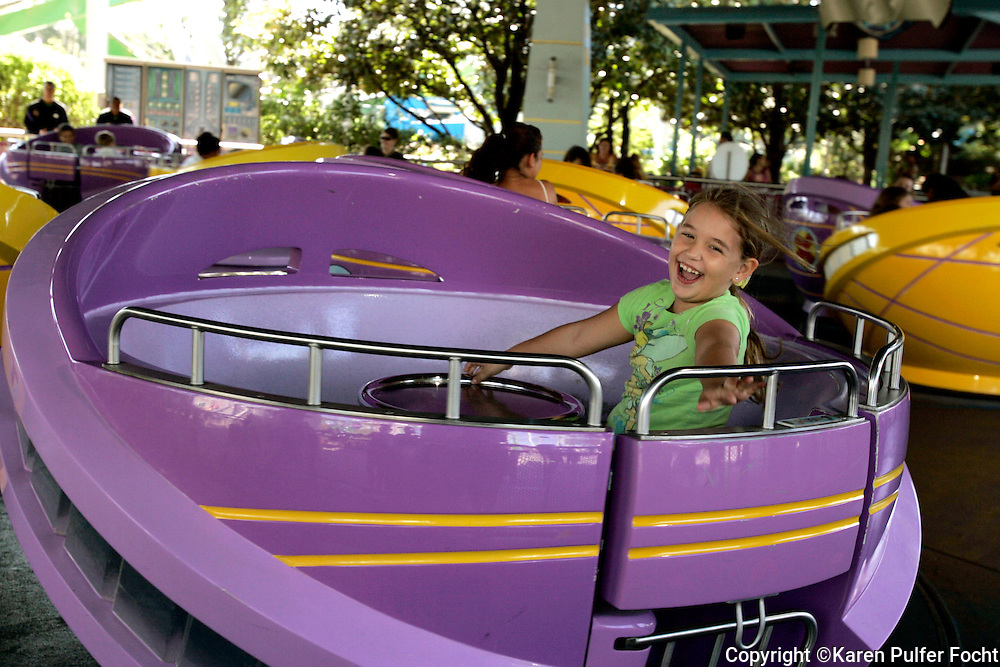 Elli Rose Focht enjoys the rides at Disney in Orlando, Florida.