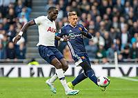 Football - 2019 / 2020 Premier League - Tottenham Hotspur vs. Watford<br /> <br /> Moussa Sissoko (Tottenham FC) closes down Gerard Deulofeu (Watford FC) at The Tottenham Hotspur Stadium.<br /> <br /> COLORSPORT/DANIEL BEARHAM