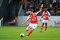 FOOTBALL - FRENCH CHAMPIONSHIP 2011/2012 - L2 - STADE DE REIMS v AS MONACO - 07/05/2015 - PHOTO JEAN MARIE HERVIO / REGAMEDIA / DPPI - Romain AMALFITANO (REI)