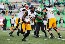 Nov 25, 2017; Huntington, WV, USA; Southern Miss Golden Eagles quarterback Kwadra Griggs (7) runs out of the pocket during the third quarter against the Marshall Thundering Herd at Joan C. Edwards Stadium. Mandatory Credit: Ben Queen-USA TODAY Sports