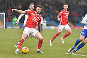 Walsall Midfielder, Anthony Forde causing more trouble for the bury defence during the Sky Bet League 1 match between Bury and Walsall at Gigg Lane, Bury, England on 16 January 2016. Photo by Mark Pollitt.