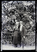 young couple in outdoors setting early 1900s
