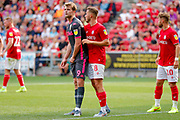 Leeds United forward Patrick Bamford (9)  during the EFL Sky Bet Championship match between Bristol City and Leeds United at Ashton Gate, Bristol, England on 4 August 2019.