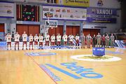 DESCRIZIONE : Cremona Lega A 2015-16 Play Off gara 2 Vanoli Cremona Umana Reyer Venezia <br /> GIOCATORE : Umana Reyer Venezia<br /> CATEGORIA :  Inno Nazionale<br /> SQUADRA : Umana Reyer Venezia<br /> EVENTO : Campionato Lega A 2015-2016 GARA : Vanoli Cremona vs Umana Reyer Play Off gara 2<br /> DATA : 10/05/2016 <br /> SPORT : Pallacanestro <br /> AUTORE : Agenzia Ciamillo-Castoria/I.Mancini<br /> Galleria : Lega Basket A 2015-2016 Fotonotizia : Cremona Lega A 2015-16 PlayOff Gara 2  Vanoli Cremona Umana Reyer Venezia