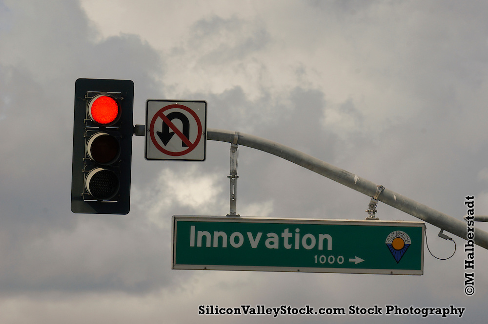 Silicon Valley Street Sign named Innovation