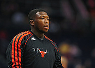Nov. 14, 2012; Phoenix, AZ, USA; Chicago Bulls guard Nate Robinson (2)  warms up prior to the game against the Phoenix Suns at the US Airways Center.  The Bulls defeated the Suns 112-106 in overtime. Mandatory Credit: Jennifer Stewart-USA TODAY Sports.