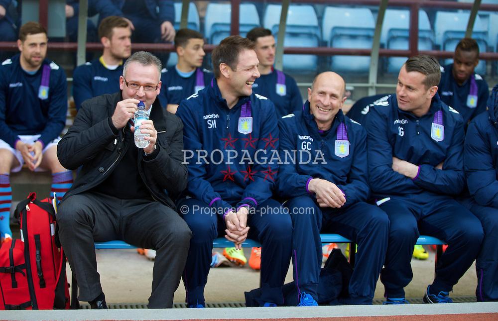 BIRMINGHAM, ENGLAND - Saturday, April 19, 2014: Aston Villa's manager Paul Lambert before the Premiership match against Southampton at Villa Park. (Pic by David Rawcliffe/Propaganda)