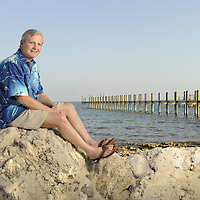 Key Largo, FL- 2/20/2009: ..Bob Williamson poses at his Key Largo home for Reader's Digest. ..Photo by Preston Mack / Redux..