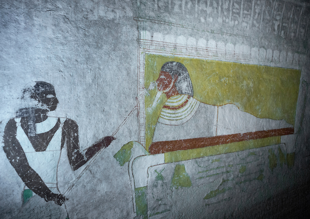 El Kurru, Sudan, Osiris painting in the Tomb Of Qalhata.