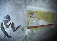 El Kurru, Sudan, Osiris painting in the Tomb Of Qalhata.