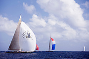 Hanuman, J Class, sailing in the St. Barth's Bucket Regatta, day three.