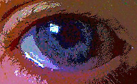 blue eye gritty abstract