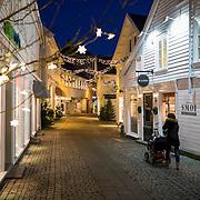 6 desember 2014. 18 dager til julaften. I g&aring;gata i Mandal er julelysene tent. <br /> <br /> December 6 2014 18 days until christmas eve. In Mandal, Norway the christmas street is ready.