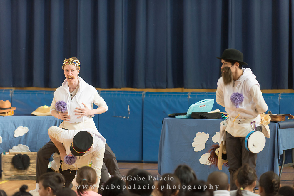 Performance of COMEDY OF ERRORS by the Hudson Valley Shakespeare Festival fall tour at School 29 in Yonkers, NY on November 9, 2017. (photo by Gabe Palacio)