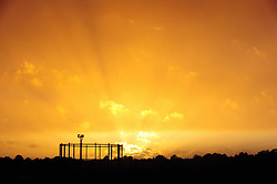 © Licensed to London News Pictures.16/10/2017.<br /> BROMLEY, UK.<br /> Sunset over London borough of Bromley in South East London.<br /> Photo credit: Grant Falvey/LNP