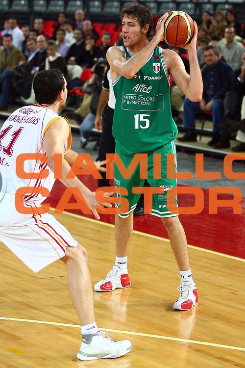 DESCRIZIONE : Roma Lega A1 2006-07 Lottomatica Virtus Roma Benetton Treviso <br /> GIOCATORE : Bargnani<br /> SQUADRA : Benetton Treviso<br /> EVENTO : Campionato Lega A1 2006-2007 <br /> GARA : Lottomatica Virtus Roma Benetton Treviso <br /> DATA : 26/11/2006 <br /> CATEGORIA : <br /> SPORT : Pallacanestro <br /> AUTORE : Agenzia Ciamillo-Castoria/E.Castoria