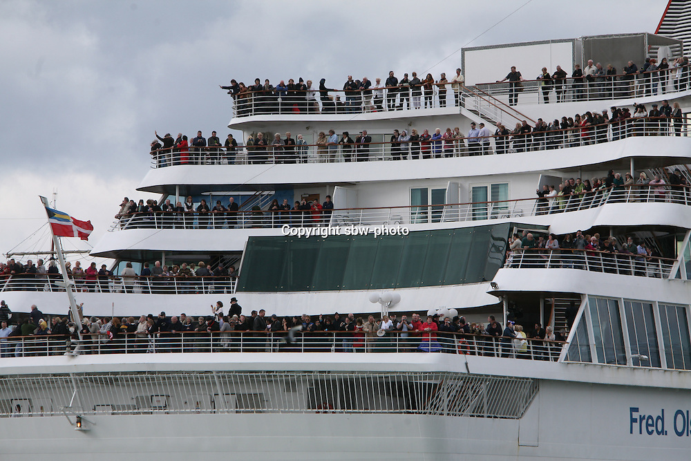 Miles Morgan Travel's Titanic Memorial Cruise leaves Southampton..Exactly1309 paying passengers from all over the world set sail from Southampton on a 12 night cruise to commemorate the centenary of the sinking of the Titanic.