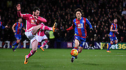 Chung Yong Lee charges forward during the Barclays Premier League match between Crystal Palace and Bournemouth at Selhurst Park, London, England on 2 February 2016. Photo by Michael Hulf.
