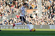 Fulham midfielder Kevin McDonald (6) has a shot on goal during the EFL Sky Bet Championship match between Fulham and Aston Villa at Craven Cottage, London, England on 17 February 2018. Picture by Andy Walter.