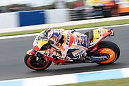 PHILLIP ISLAND, VIC - OCTOBER 27:Repsol Honda rider Dani Pedrosa (26) in morning practice  during The 2018 Australian MotoGP at The Phillip Island Circuit in Victoria, Australia on October 27, 2018. (Photo by Speed Media/Icon Sportswire)